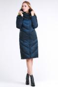 Оптом Куртка зимняя женская классическая темно-зеленого цвета 9102_03TZ в Екатеринбурге