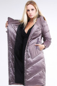 Оптом Куртка зимняя женская классическая бежевого цвета 9102_12B в  Красноярске