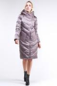 Оптом Куртка зимняя женская классическая бежевого цвета 9102_12B в  Красноярске, фото 2