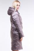 Оптом Куртка зимняя женская классическая бежевого цвета 9102_12B в  Красноярске, фото 4