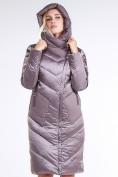 Оптом Куртка зимняя женская классическая бежевого цвета 9102_12B в  Красноярске, фото 6