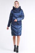 Оптом Куртка зимняя женская классическая темно-синего цвета 9102_22TS в Нижнем Новгороде