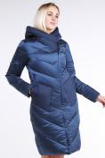 Оптом Куртка зимняя женская классическая темно-синего цвета 9102_22TS в Нижнем Новгороде, фото 3