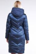 Оптом Куртка зимняя женская классическая темно-синего цвета 9102_22TS в Нижнем Новгороде, фото 4