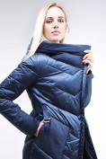 Оптом Куртка зимняя женская классическая темно-синего цвета 9102_22TS в Нижнем Новгороде, фото 6