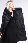 Оптом Куртка зимняя женская классическая черного цвета 9102_01Ch в Екатеринбурге, фото 8