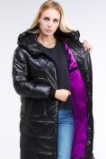 Оптом Куртка зимняя женская молодежная черного цвета 9131_01Ch в Казани, фото 4