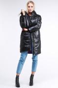 Оптом Куртка зимняя женская молодежная черного цвета 9131_01Ch в Казани