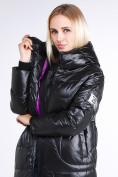 Оптом Куртка зимняя женская молодежная черного цвета 9131_01Ch в Казани, фото 2