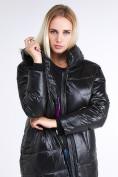 Оптом Куртка зимняя женская молодежная черного цвета 9131_01Ch в Казани, фото 3
