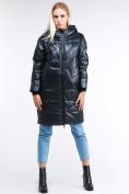 Оптом Куртка зимняя женская молодежная темно-зеленого цвета 9131_03TZ в Казани