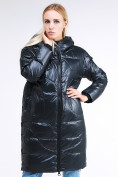 Оптом Куртка зимняя женская молодежная темно-зеленого цвета 9131_03TZ в Казани, фото 3