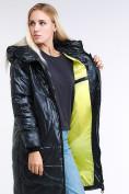 Оптом Куртка зимняя женская молодежная темно-зеленого цвета 9131_03TZ в Казани, фото 9