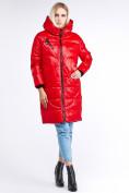 Оптом Куртка зимняя женская молодежная красного цвета 9131_14Kr в Казани