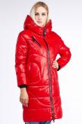 Оптом Куртка зимняя женская молодежная красного цвета 9131_14Kr в Казани, фото 2