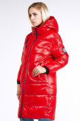Оптом Куртка зимняя женская молодежная красного цвета 9131_14Kr в Казани, фото 3