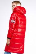 Оптом Куртка зимняя женская молодежная красного цвета 9131_14Kr в Казани, фото 4