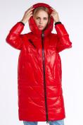 Оптом Куртка зимняя женская молодежная красного цвета 9131_14Kr в Казани, фото 5