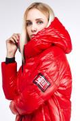 Оптом Куртка зимняя женская молодежная красного цвета 9131_14Kr в Казани, фото 6