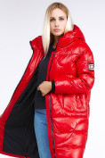 Оптом Куртка зимняя женская молодежная красного цвета 9131_14Kr в Казани, фото 8
