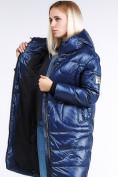 Оптом Куртка зимняя женская молодежная темно-синего цвета 9131_22TS в  Красноярске, фото 2