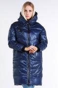 Оптом Куртка зимняя женская молодежная темно-синего цвета 9131_22TS в  Красноярске, фото 3
