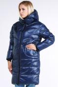 Оптом Куртка зимняя женская молодежная темно-синего цвета 9131_22TS в  Красноярске, фото 4