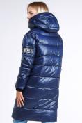 Оптом Куртка зимняя женская молодежная темно-синего цвета 9131_22TS в  Красноярске, фото 5