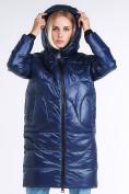 Оптом Куртка зимняя женская молодежная темно-синего цвета 9131_22TS в  Красноярске, фото 6