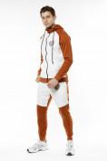 Оптом Спортивный костюм трикотажный коричневого цвета 9150K, фото 2