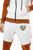 Оптом Спортивный костюм трикотажный коричневого цвета 9150K, фото 9