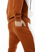Оптом Спортивный костюм трикотажный коричневого цвета 9150K, фото 10