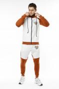 Оптом Спортивный костюм трикотажный коричневого цвета 9150K