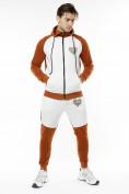 Оптом Спортивный костюм трикотажный коричневого цвета 9150K, фото 5