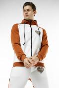 Оптом Спортивный костюм трикотажный коричневого цвета 9150K, фото 6