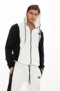 Оптом Спортивный костюм трикотажный белого цвета 9154Bl, фото 6