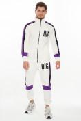 Оптом Спортивный костюм трикотажный белого цвета 9156Bl