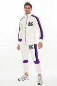 Оптом Спортивный костюм трикотажный белого цвета 9156Bl, фото 2