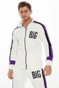 Оптом Спортивный костюм трикотажный белого цвета 9156Bl, фото 5