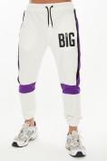 Оптом Спортивный костюм трикотажный белого цвета 9156Bl, фото 6