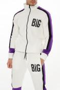 Оптом Спортивный костюм трикотажный белого цвета 9156Bl, фото 7