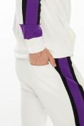Оптом Спортивный костюм трикотажный белого цвета 9156Bl, фото 8