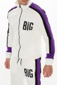 Оптом Спортивный костюм трикотажный белого цвета 9156Bl, фото 9