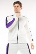 Оптом Спортивный костюм трикотажный белого цвета 9157Bl, фото 4