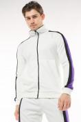 Оптом Спортивный костюм трикотажный белого цвета 9157Bl, фото 5