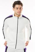 Оптом Спортивный костюм трикотажный белого цвета 9157Bl, фото 6