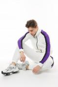 Оптом Спортивный костюм трикотажный белого цвета 9157Bl, фото 7