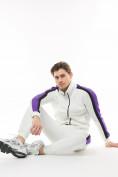 Оптом Спортивный костюм трикотажный белого цвета 9157Bl, фото 8