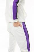 Оптом Спортивный костюм трикотажный белого цвета 9157Bl, фото 11