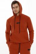 Оптом Спортивный костюм трикотажный оранжевого цвета 9159O, фото 7